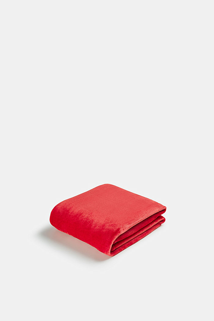 Fleece plaid, RED, detail image number 0