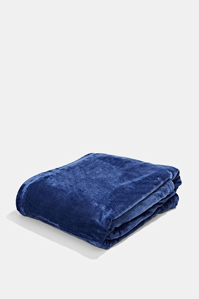 Fleece plaid, NAVY, detail image number 0