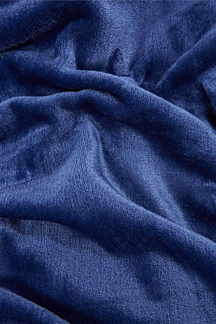Fleece plaid, NAVY, detail image number 1