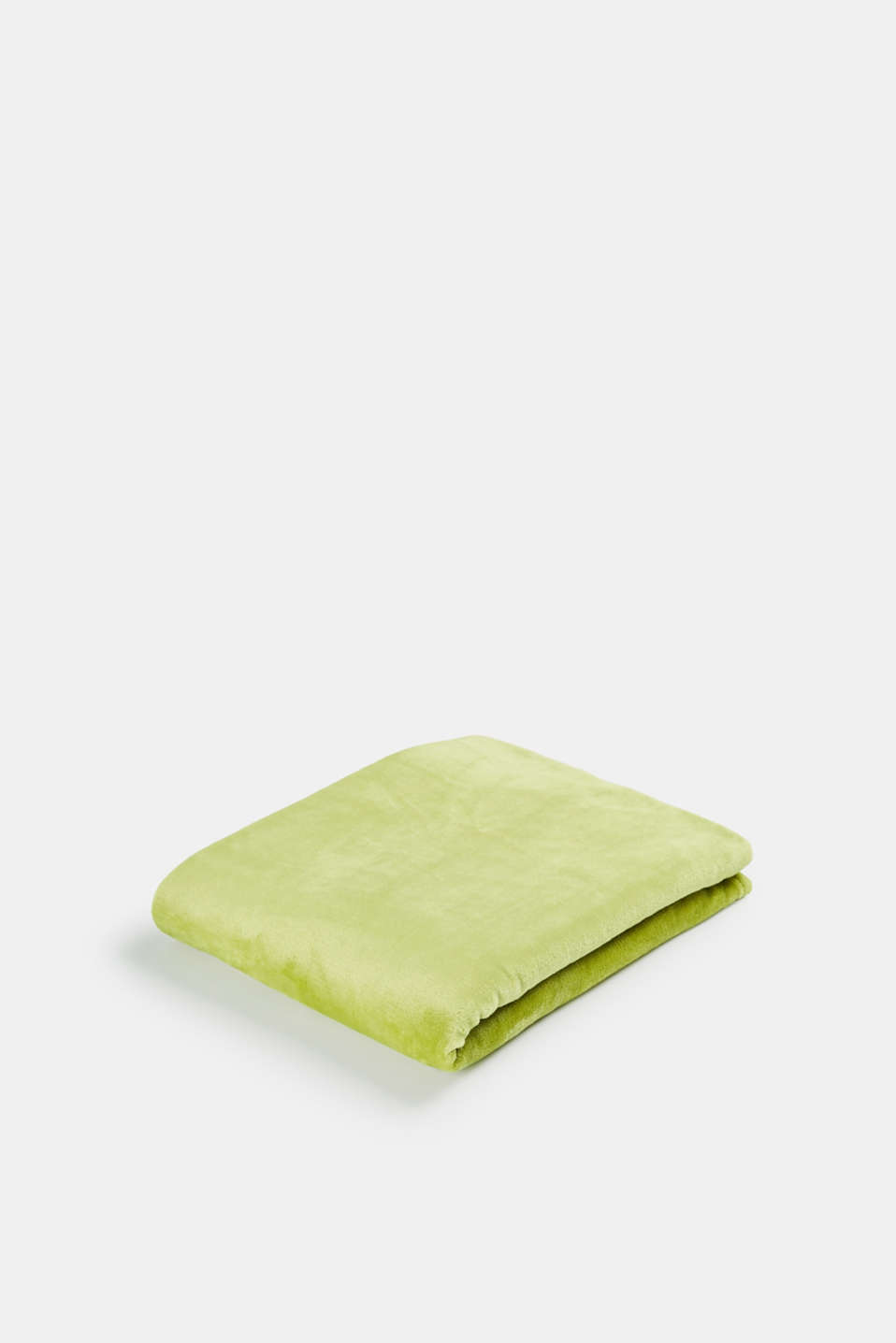 Esprit - Plain throw in soft fleece