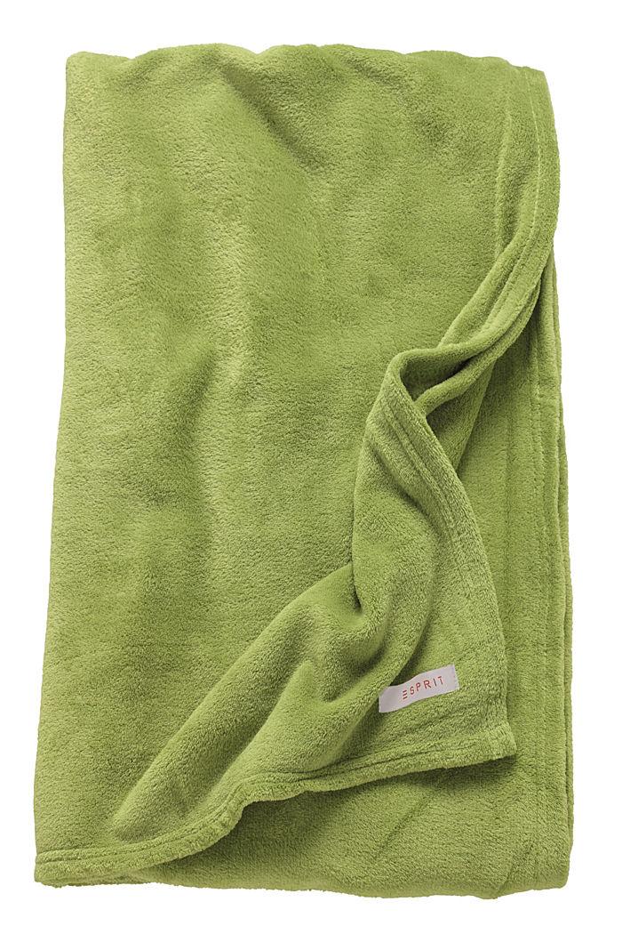 Fleece plaid, GREEN, detail image number 3