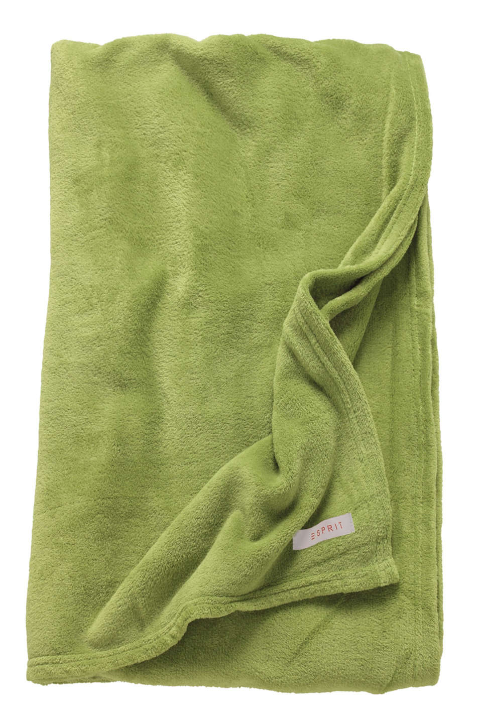 Plain throw in soft fleece, GREEN, detail image number 3