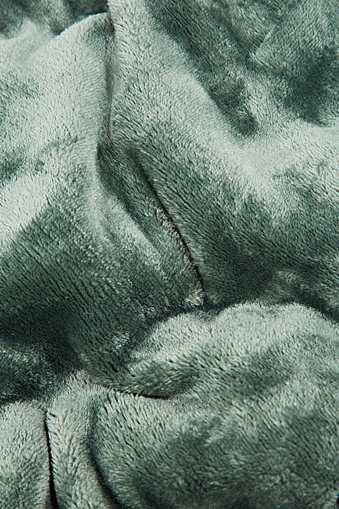 Plaid aus Fleece, DARKGREEN, detail image number 1