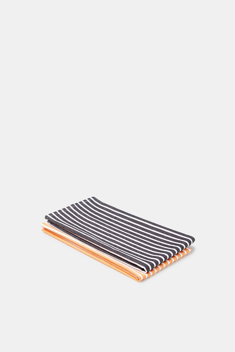 Double pack of tea towels with stripes, cotton