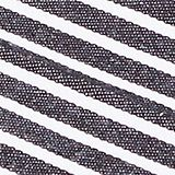 Double pack of tea towels with stripes, cotton, BLACK/ORANGE, swatch