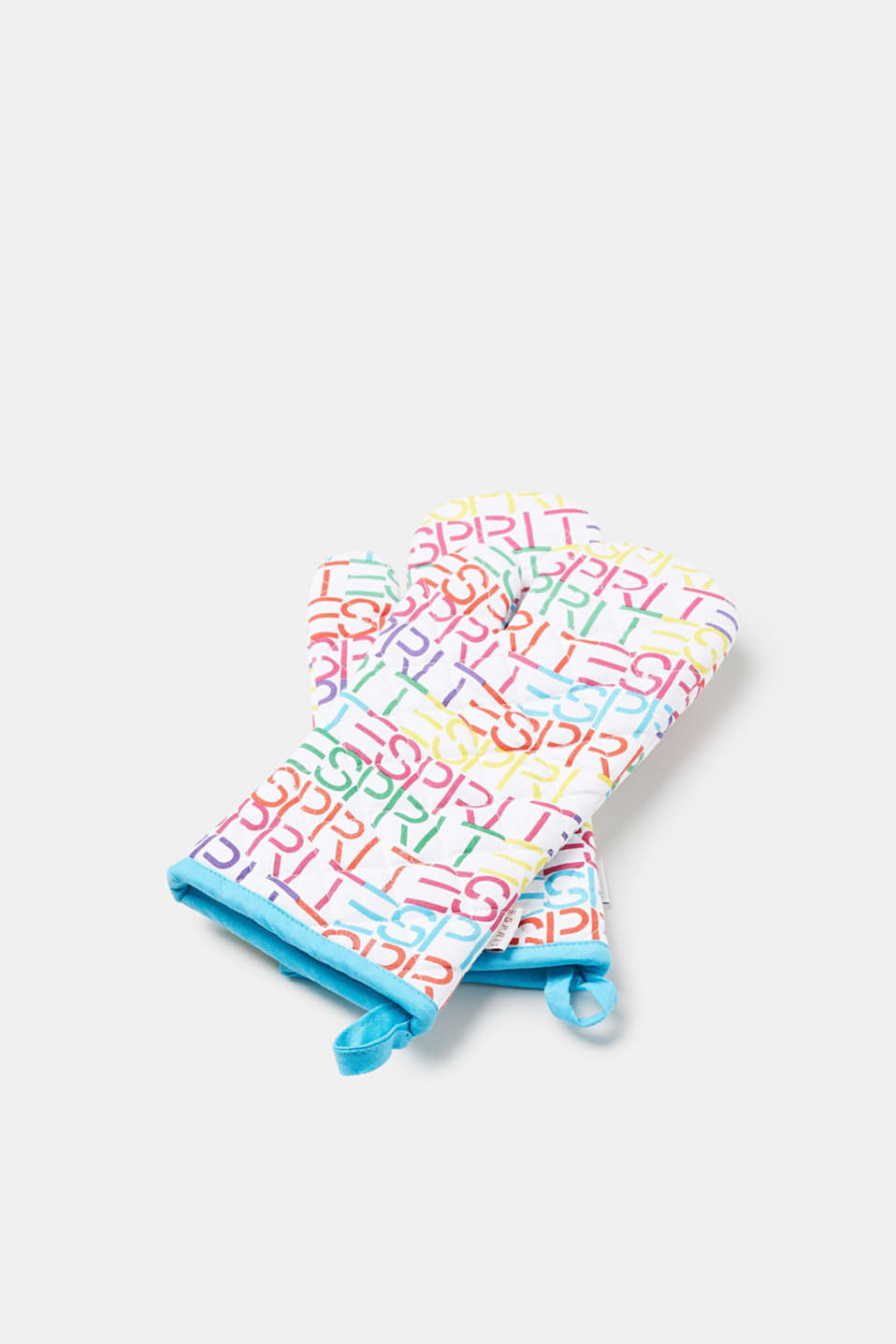 Esprit - Cotton oven gloves with a bright logo print