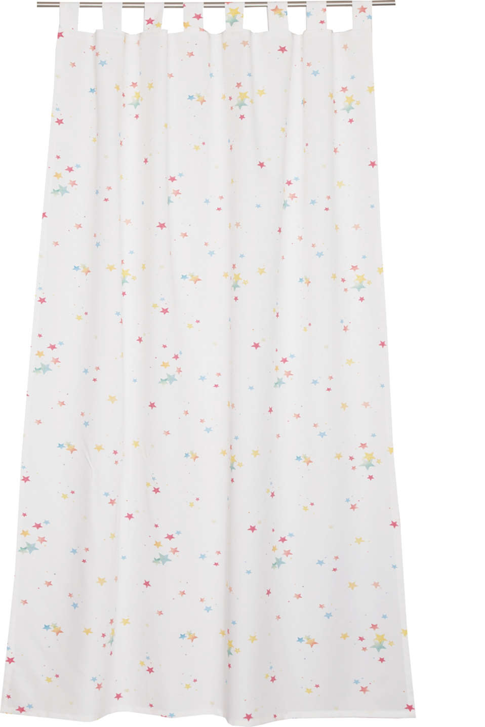Esprit - Opaque tab top curtain with a star print