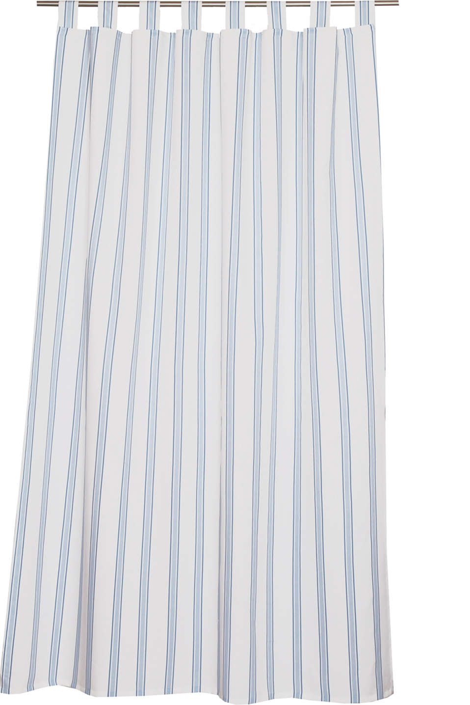 Esprit - Opaque tab top curtain with a striped print