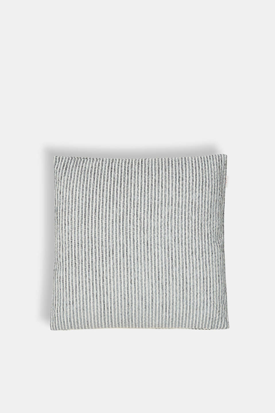 Cushion cover with textured stripes, GREY, detail image number 0