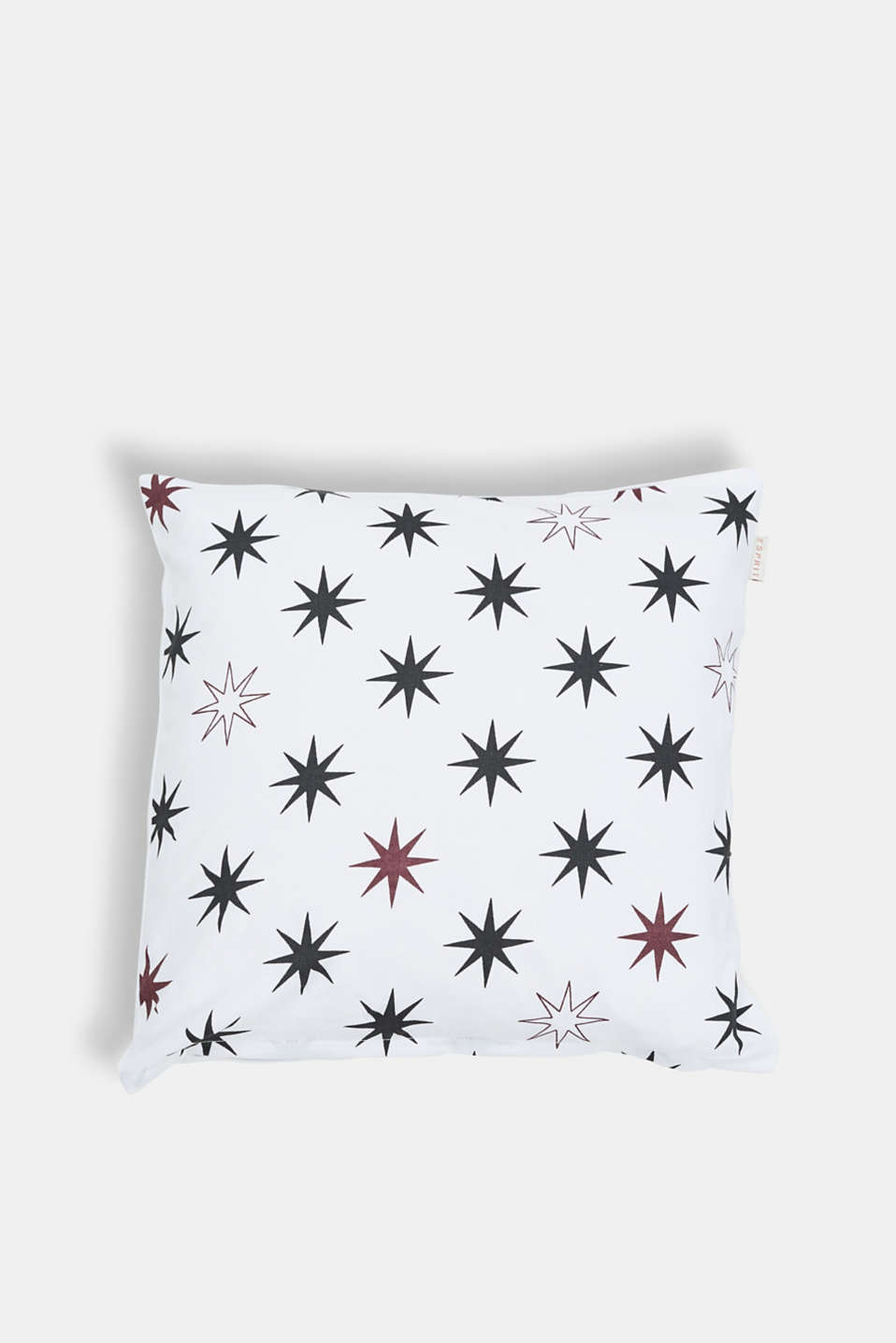 Esprit - Cushion cover with star print, 100% cotton