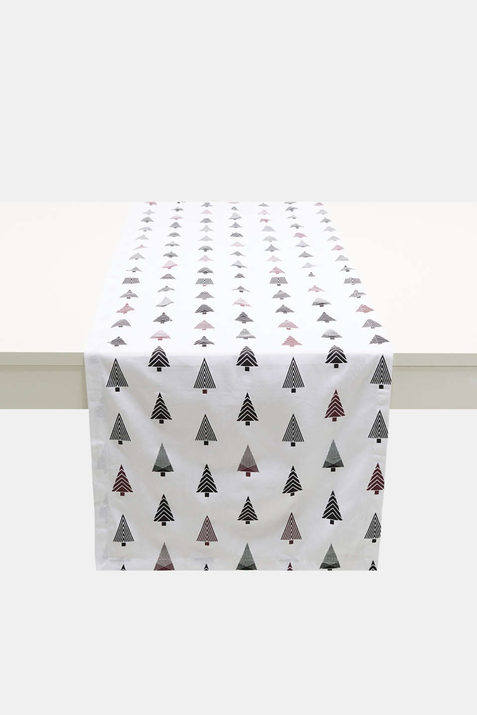 Esprit - Table runner with a Xmas print, 100% cotton