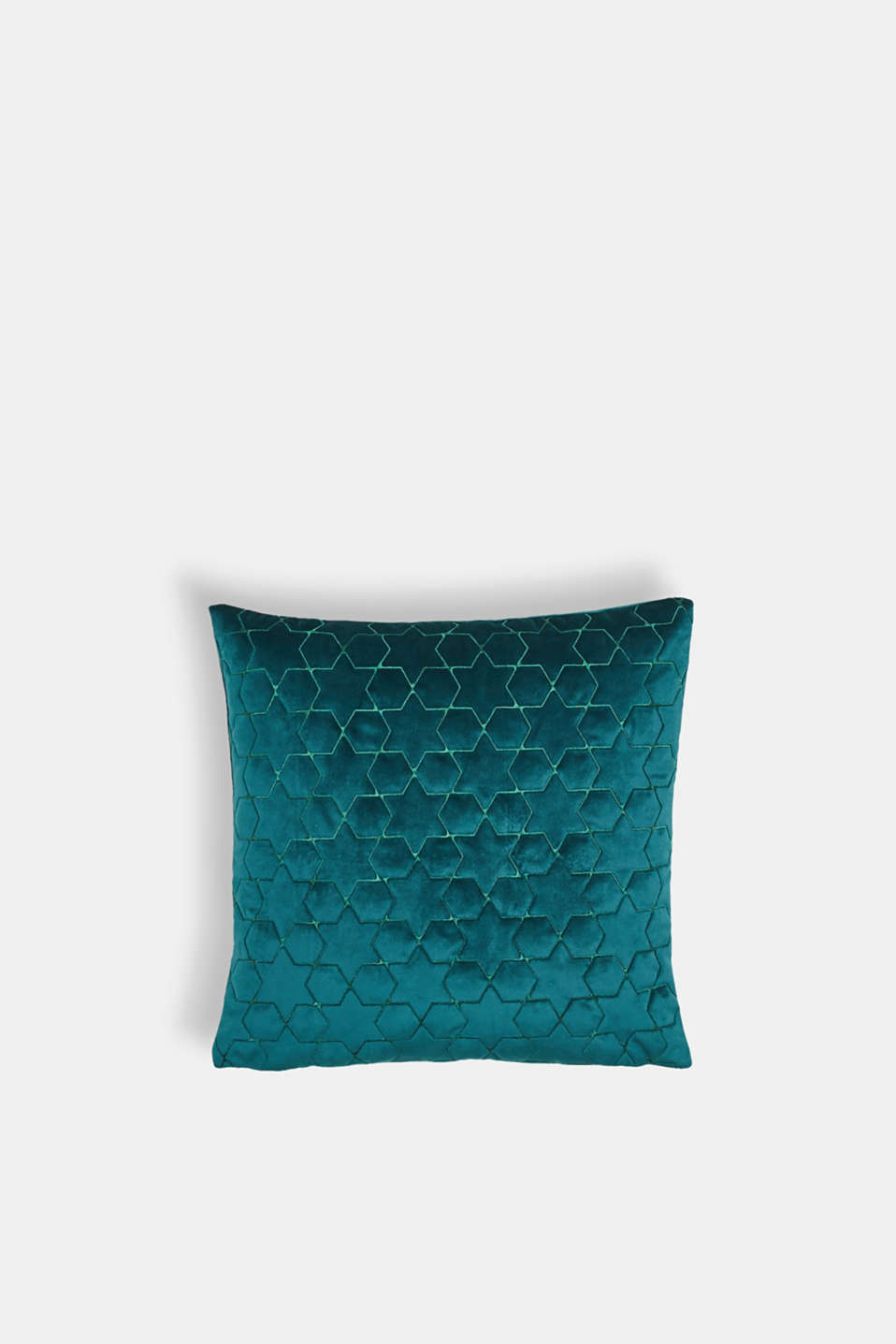 Esprit - Velvet cushion cover with star stitching