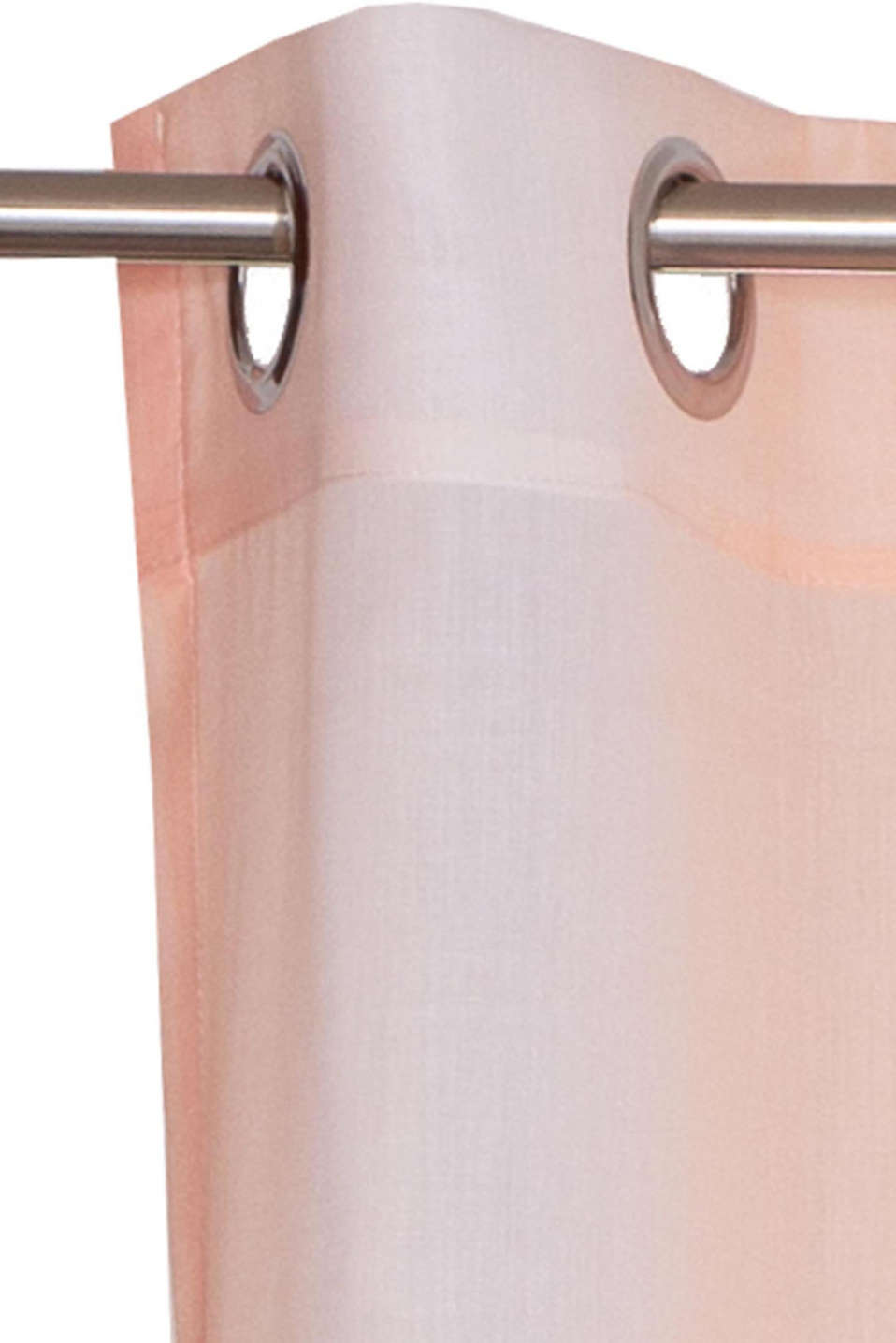 Woven eyelet curtain with colour graduation, SALMON, detail image number 2