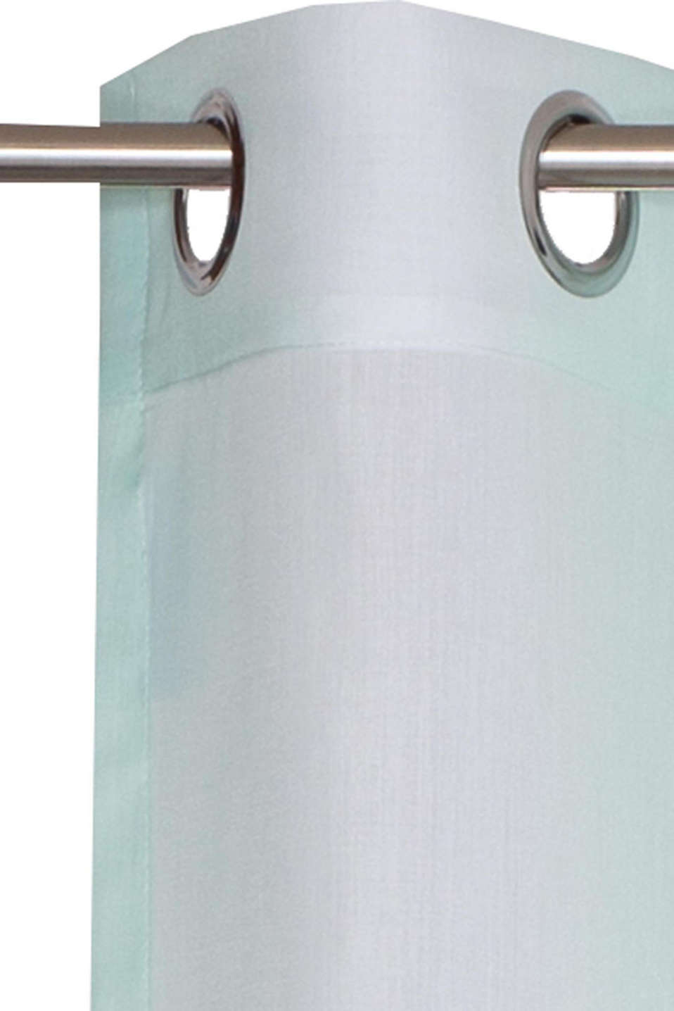 Woven eyelet curtain with colour graduation, MINT, detail image number 2