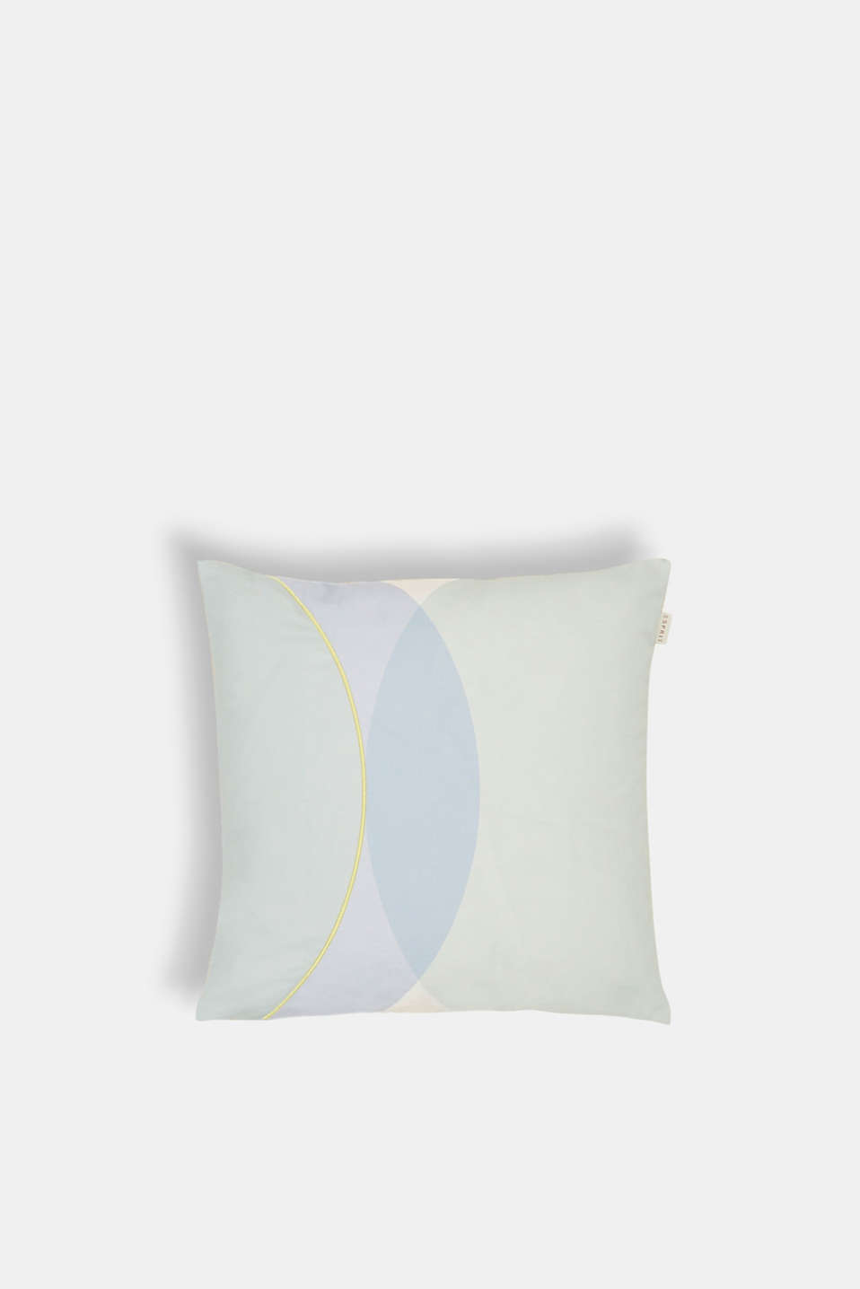 Esprit - Cushion cover with a graphic print and stitching
