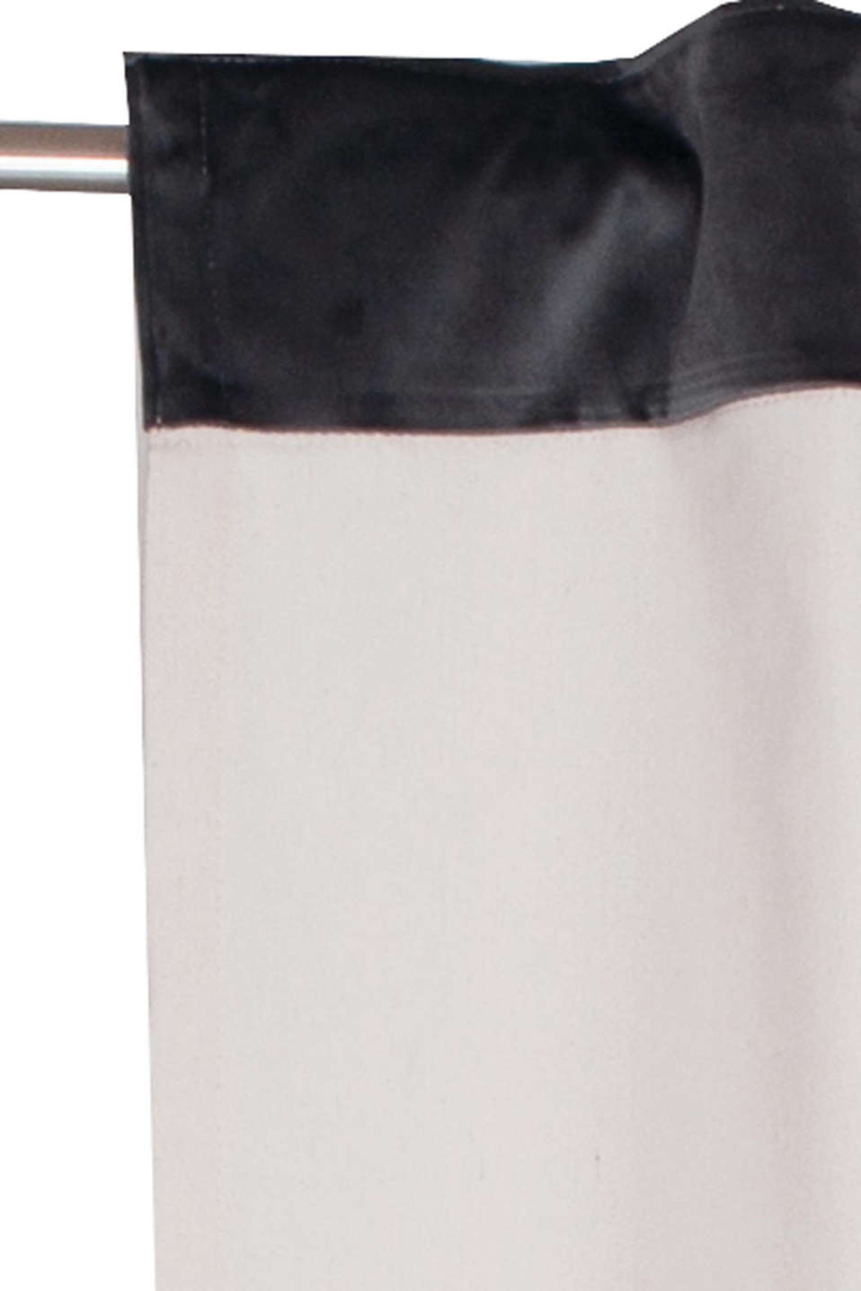 Eyelet curtain with concealed loops, BEIGE/GREY, detail image number 1