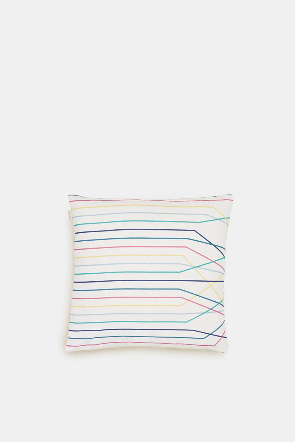 Esprit - Reversible cushion cover with a colourful print