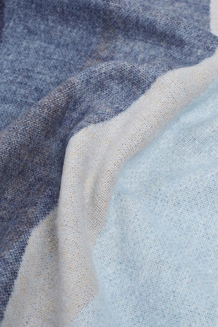 Plaid mit grafischem Streifen-Look, GREY/BLUE, detail image number 2