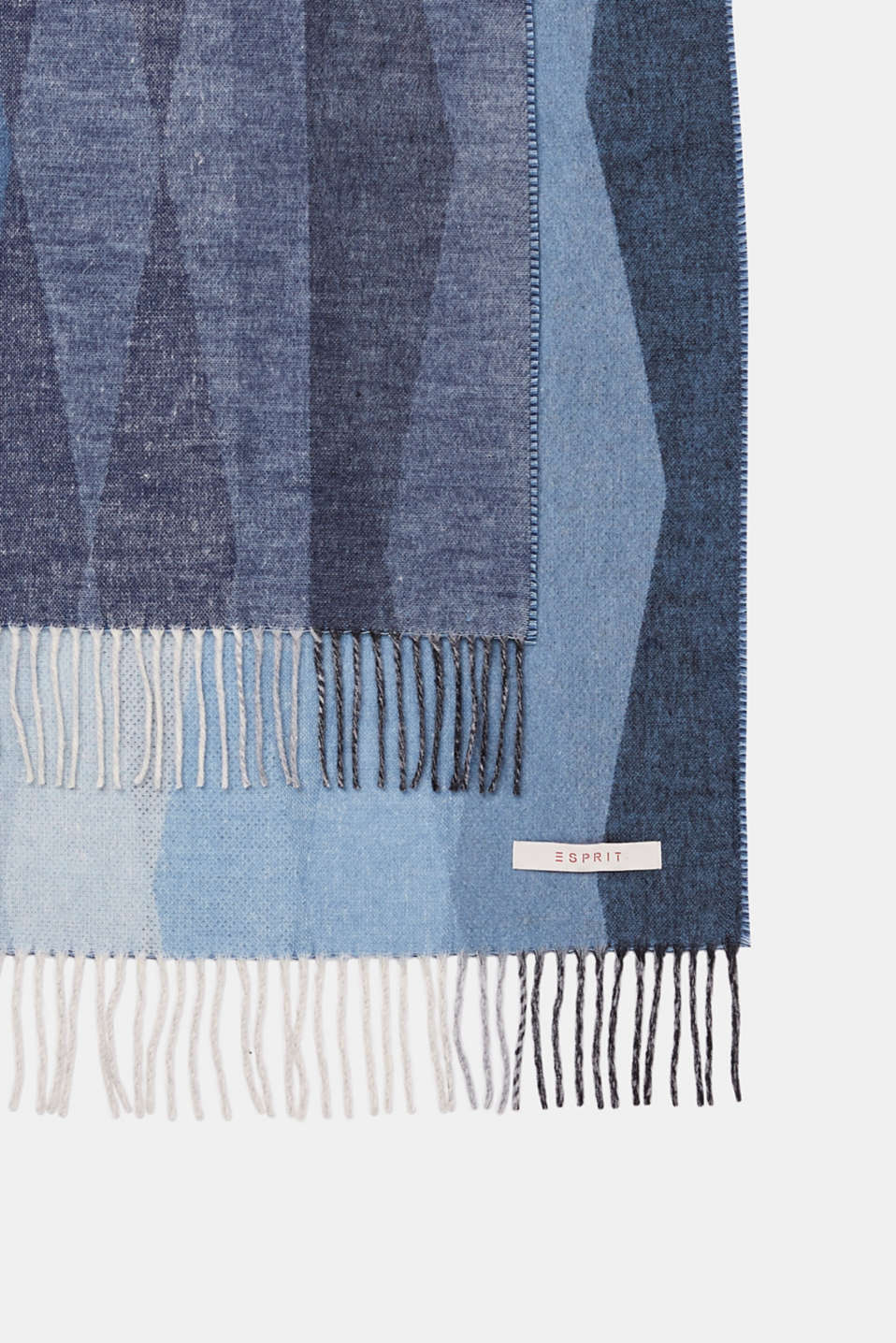 Throw with a graphic striped look, GREY/BLUE, detail image number 1