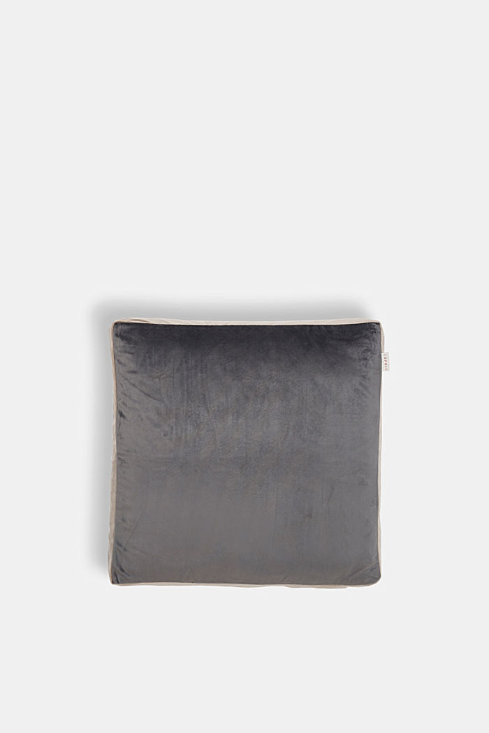 Cushion cover made of velvet, GREY/BEIGE, detail image number 0