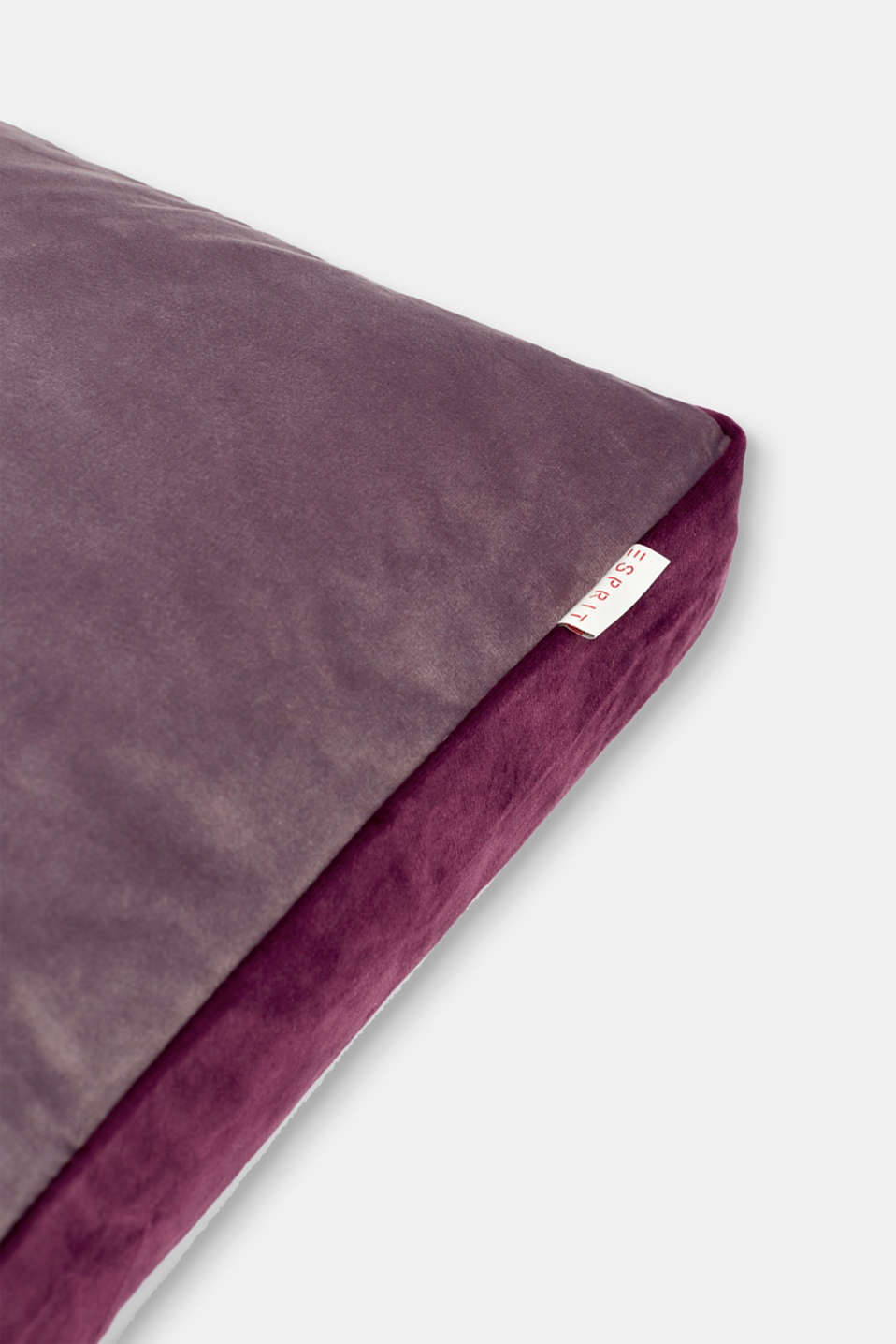 Cushion cover made of velvet, ROSE/LILAC, detail image number 1