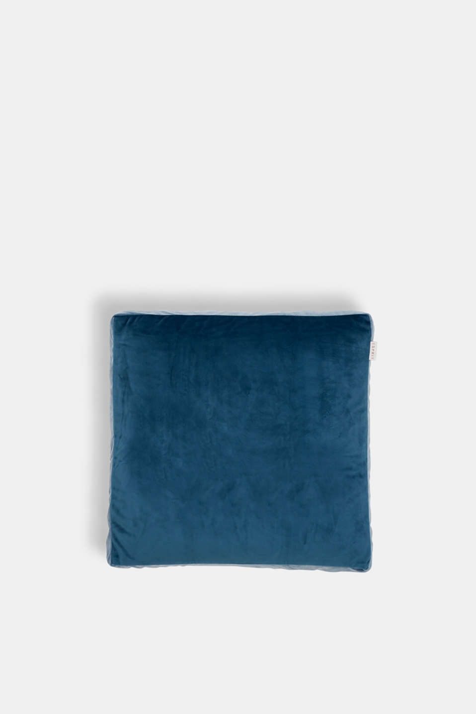 Cushion cover made of velvet, BLUE/GREY, detail image number 0