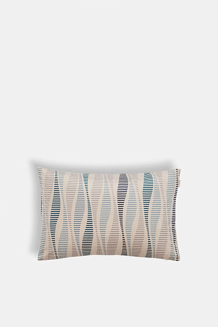 Velvet cushion cover with a stripe print
