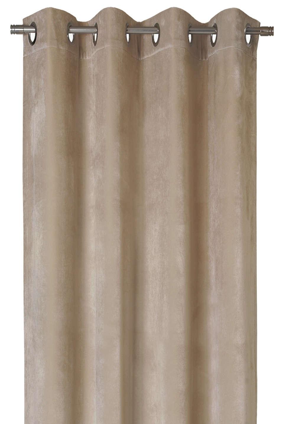 Velvet eyelet curtain, SAND, detail image number 3