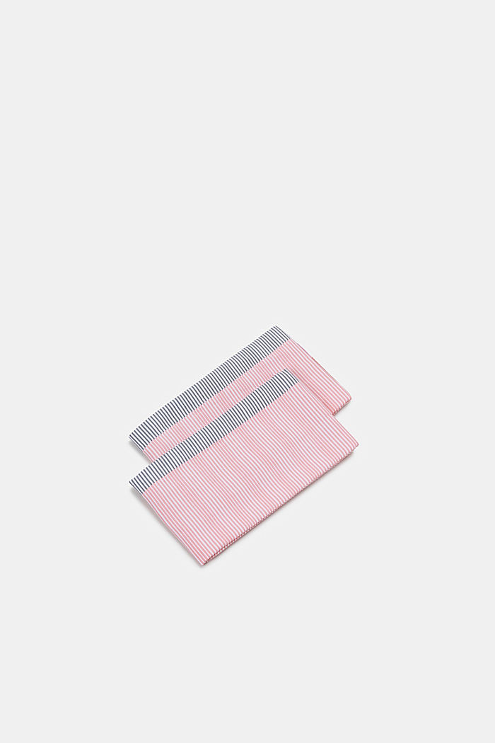 Set of two 100% cotton tea towels, PINK ORANGE, detail image number 0