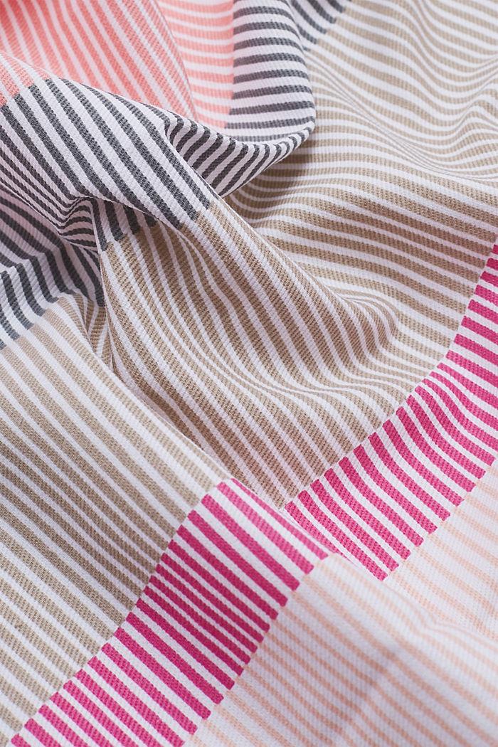Set of two 100% cotton tea towels, PINK ORANGE, detail image number 1