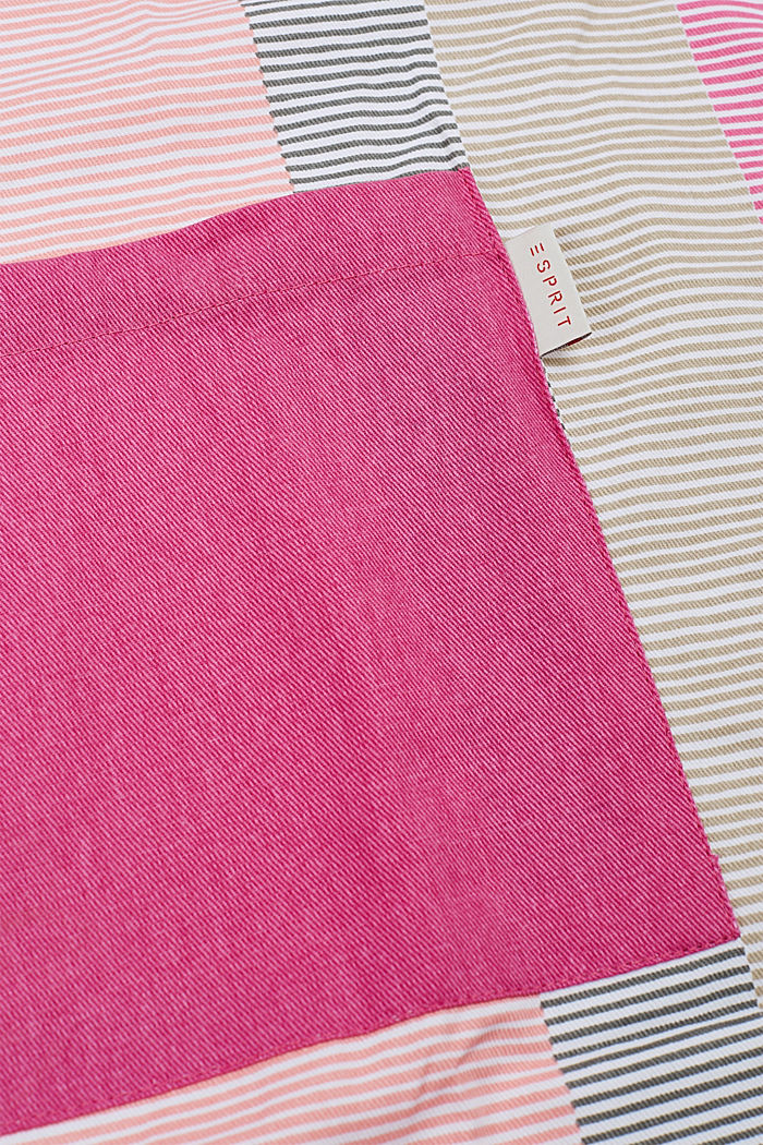Apron with stripes, 100% cotton, PINK ORANGE, detail image number 1