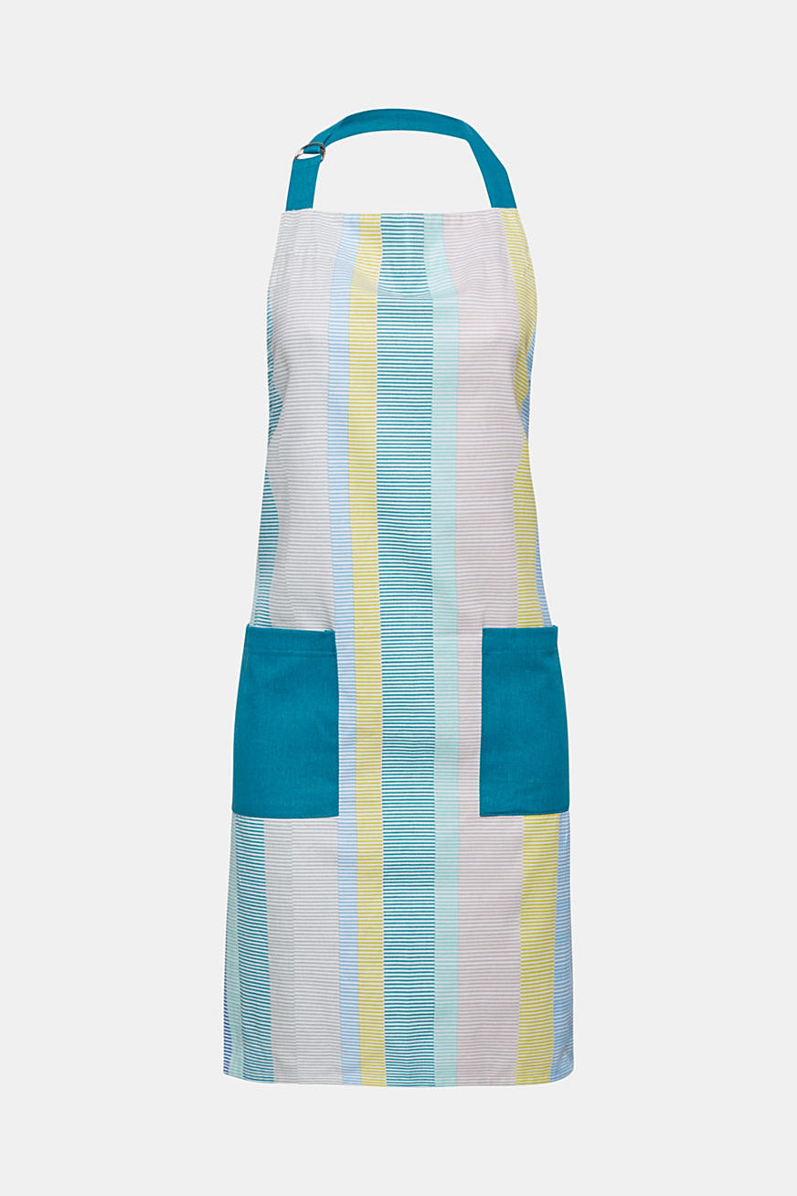 Apron with stripes, 100% cotton