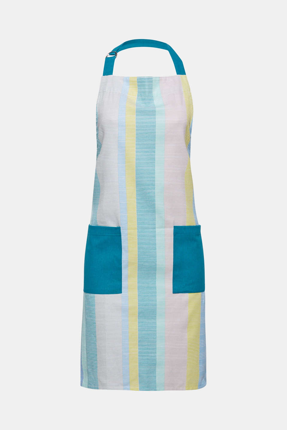 Esprit - Apron with stripes, 100% cotton