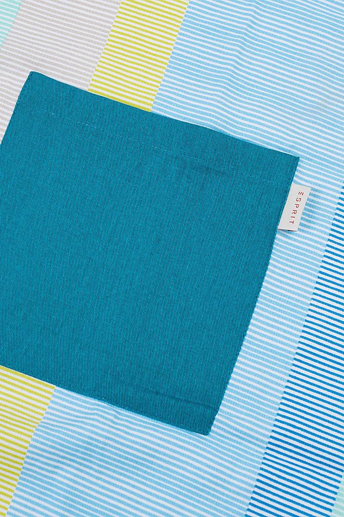 Apron with stripes, 100% cotton, BLUE MINT, detail image number 2