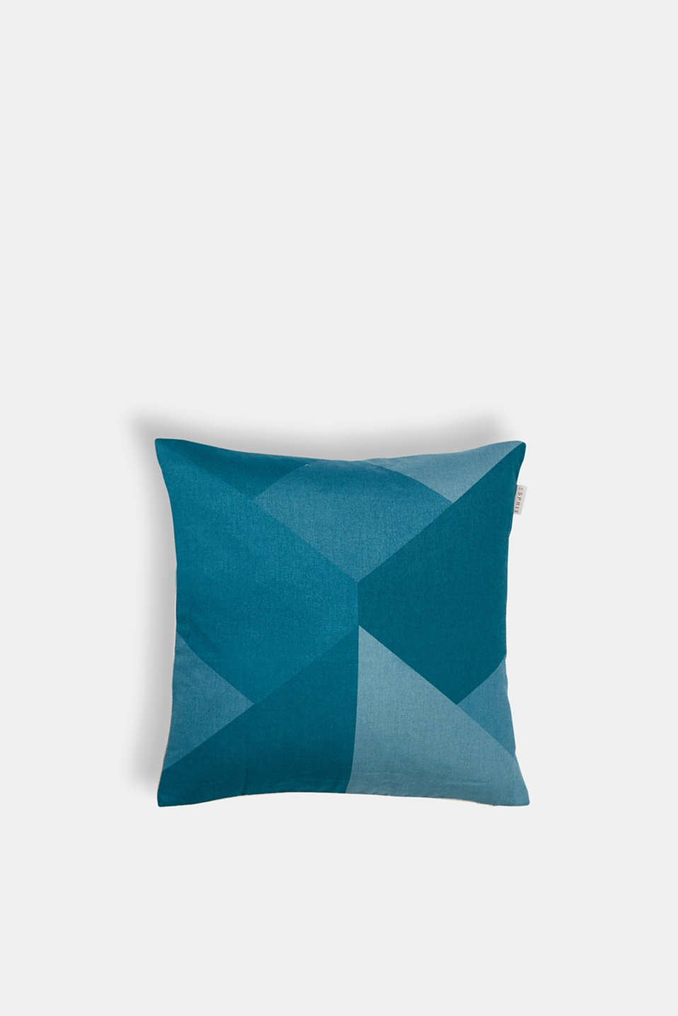 Cushion cover with a graphic pattern, PETROL, detail image number 0