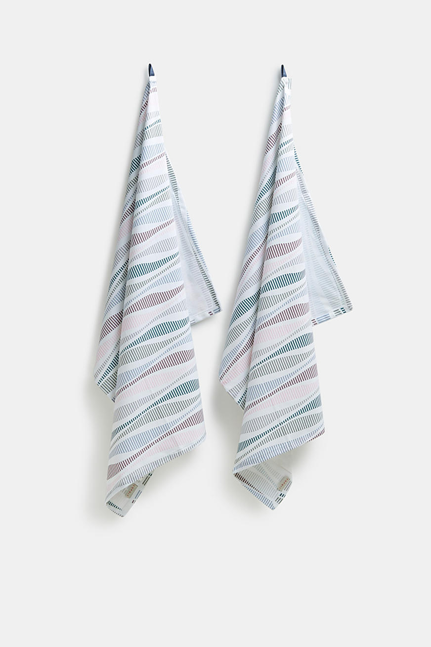 Set of two 100% cotton tea towels