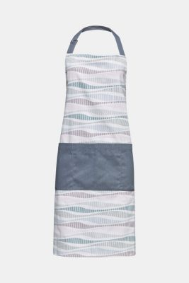 Kitchen apron with stripes, made of pure cotton, MULTICOLOR, detail