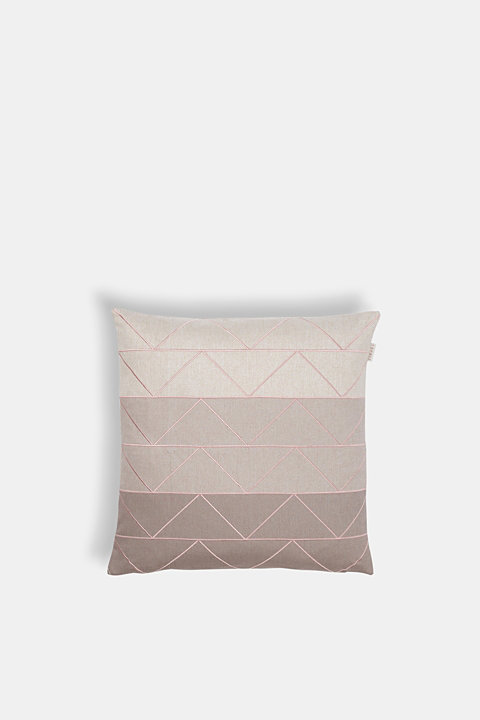 Cushion cover with contrast stitching