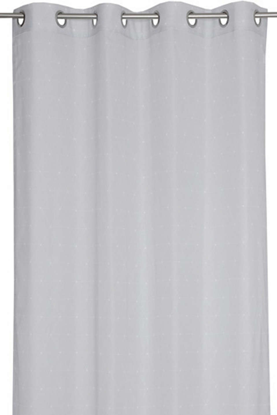 Eyelet curtain with a graphic print, GREY, detail image number 0