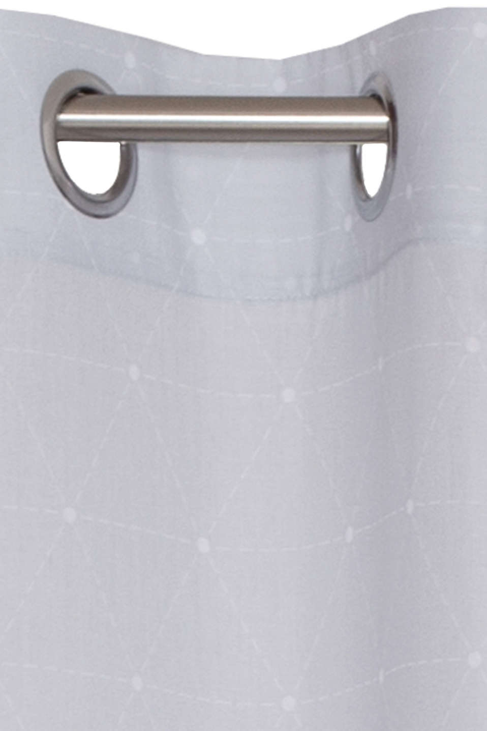Eyelet curtain with a graphic print, GREY, detail image number 1