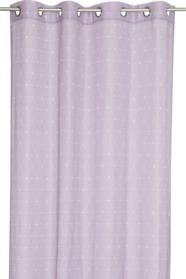 Eyelet curtain with a graphic print, LILAC, detail