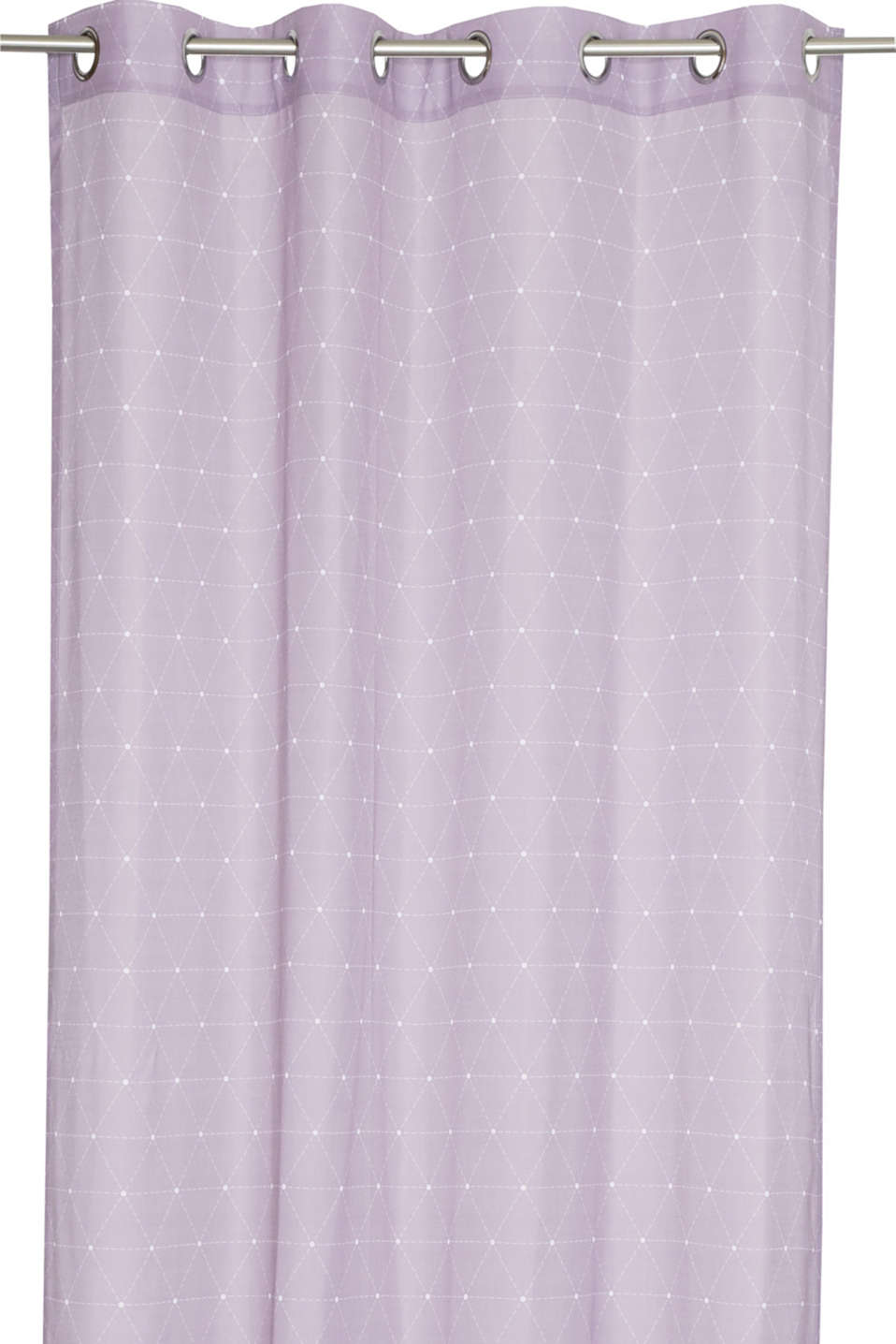 Eyelet curtain with a graphic print, LILAC, detail image number 0
