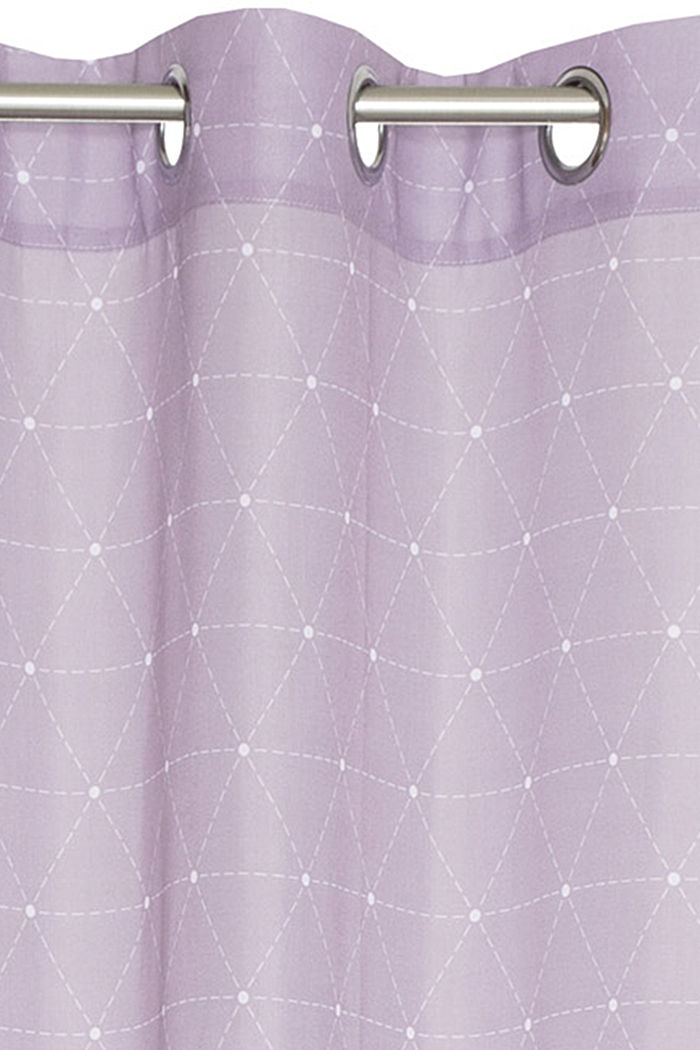 Eyelet curtain with a graphic print, LILAC, detail image number 1