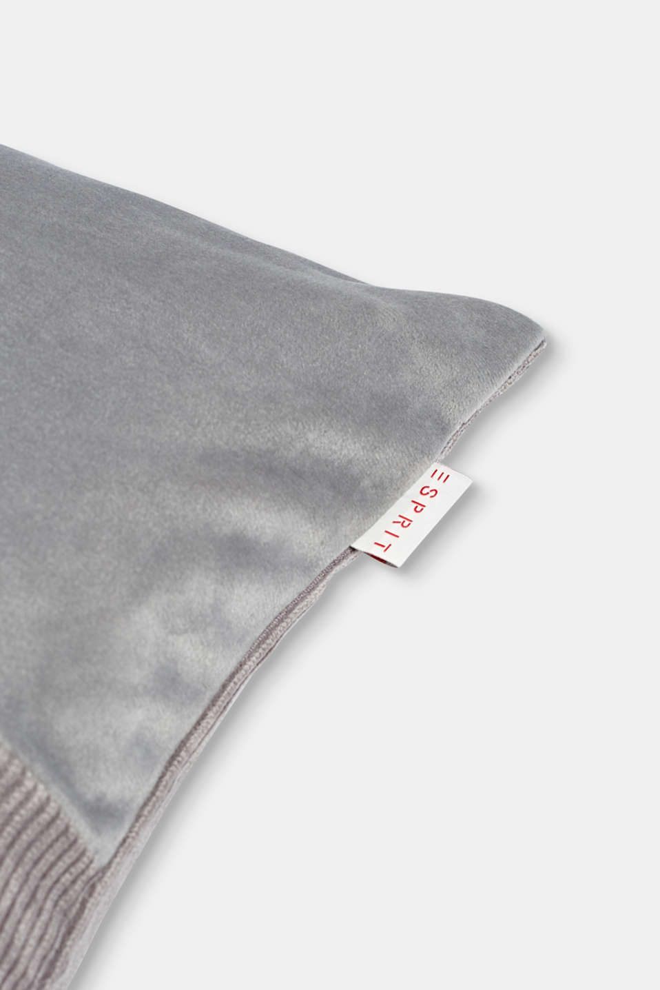 Cushion cover made of corduroy velvet, GREY, detail image number 1
