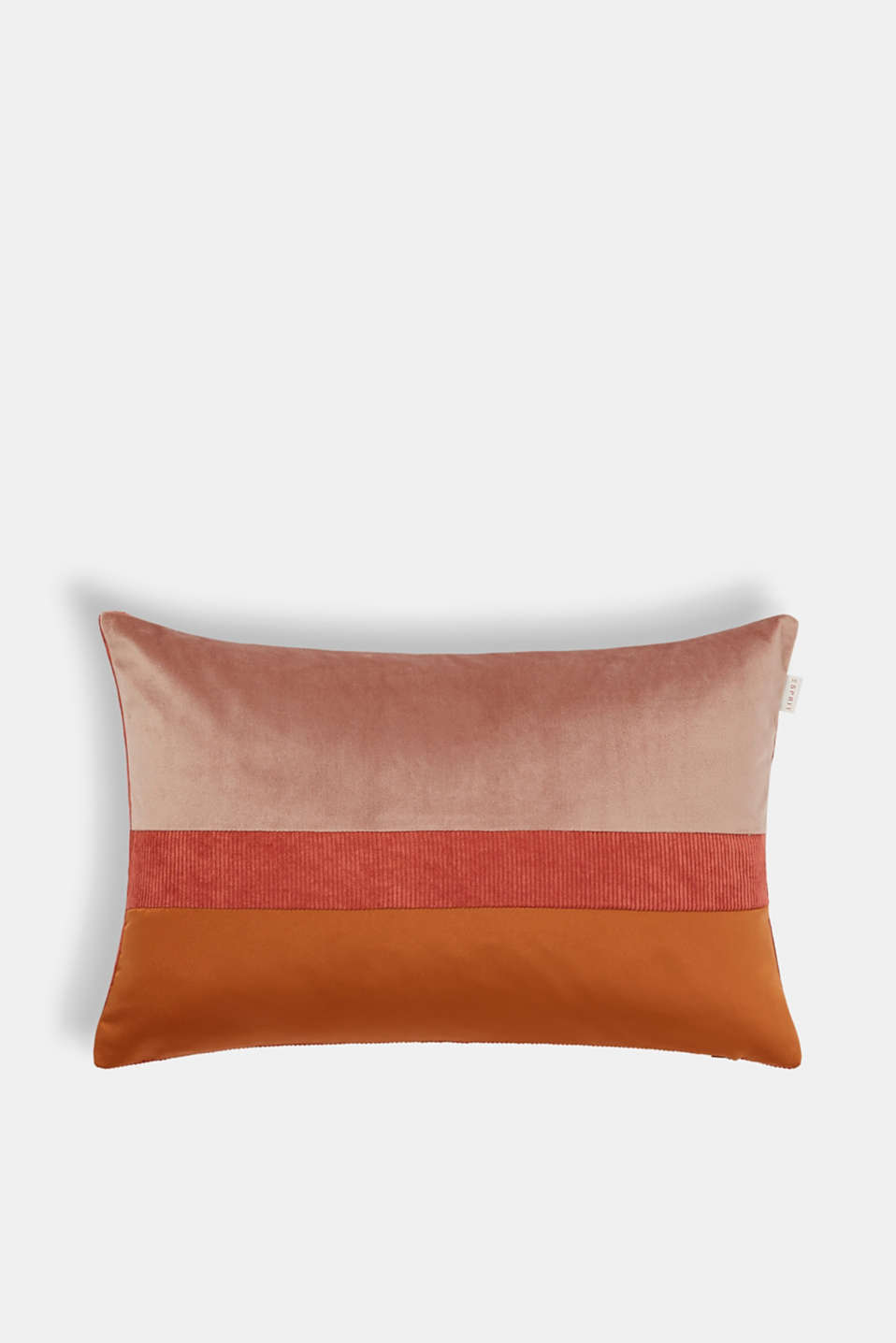 Cushion cover made of corduroy velvet, CORAL, detail image number 0