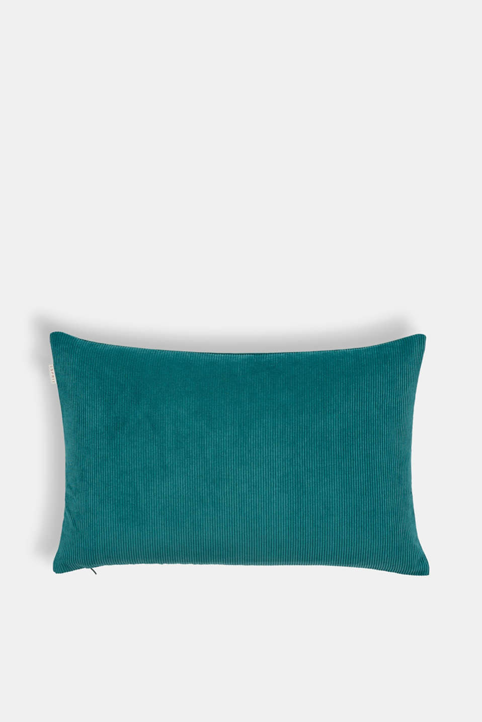 Cushion cover made of corduroy velvet, PETROL, detail image number 2