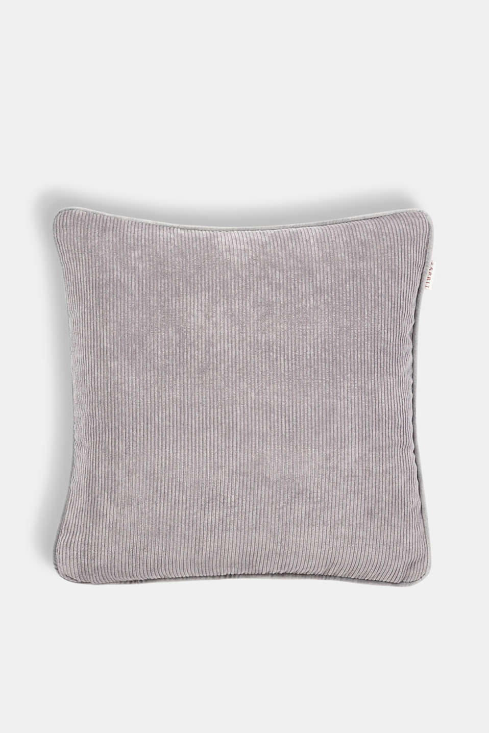 Cushion cover made of corduroy velvet, GREY, detail image number 0