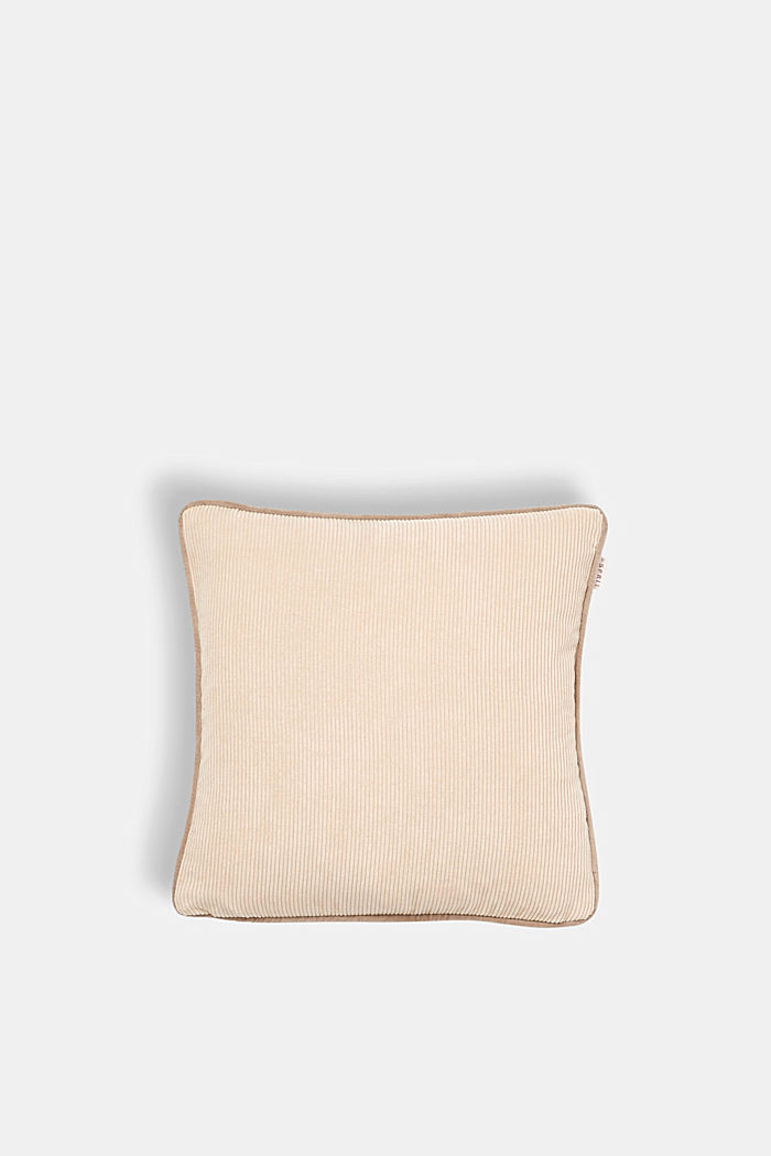 Cushion cover made of corduroy velvet, BEIGE, detail image number 0