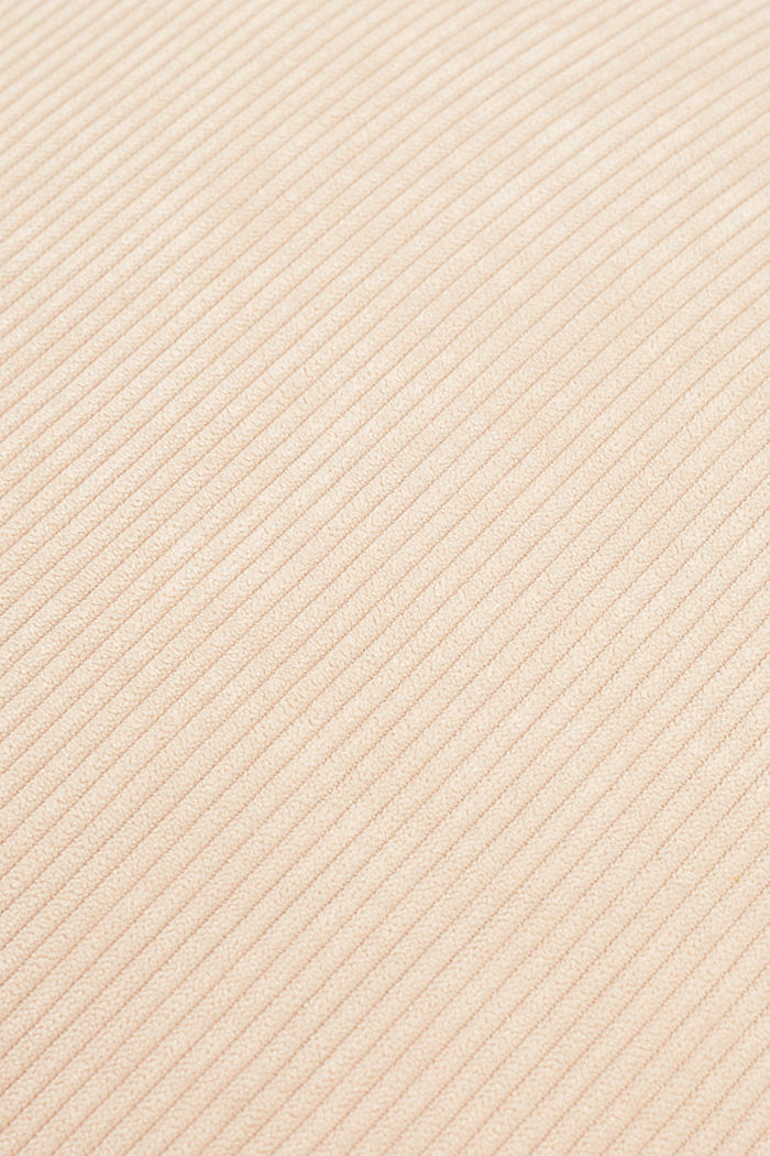 Cushion cover made of corduroy velvet, BEIGE, detail image number 2