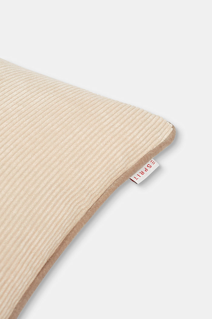 Cushion cover made of corduroy velvet, BEIGE, detail image number 1
